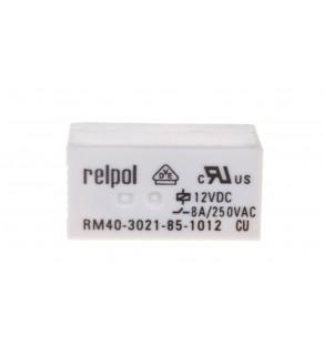 Przekaźnik miniaturowy 1Z 12V DC PCB AgSnO2 RM40-3021-85-1012 2611687