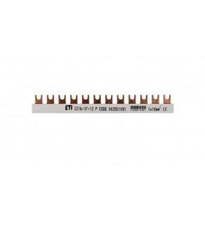 Szyna łączeniowa widełkowa 1P 100A 16mm2 (12 mod.) IZ16/1F/12/P 002921091