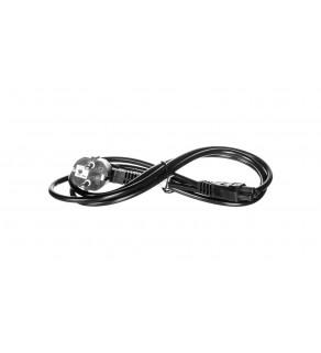 Przewód zasilający Schuko (type F, CEE 7/7)- C5 1.8m czarny 68004