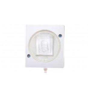 LAMBDA Przycisk hermetyczny /dzwonek/ IP44 biały ŁNH-6L/00