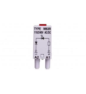 Moduł sygnaliacyjny LED dioda czerwona 110-230 V AC/DC MODUL L M63R SZARY 854855