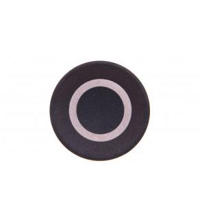 Wkładka przycisku 22mm płaska czarna z opisem O M22-XD-S-X0 218154