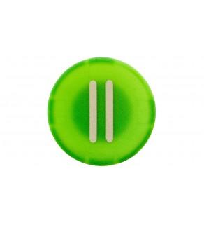 Wkładka do przycisku 22mm płaska zielona z symbolem START II M22-XD-G-X2 218168