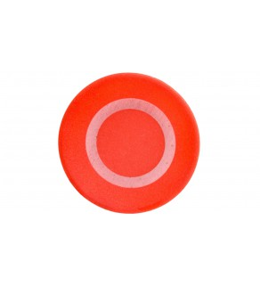 Wkładka do przycisku 22mm płaska czerwona z symbolem STOP 0 M22-XD-R-X0 218153