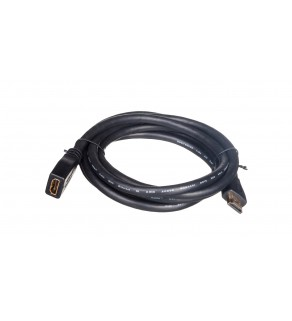 Kabel przedłużający HDMI Highspeed 1.4 z Eth. GOLD Typ HDMI A/HDMI A, M/Ż czarny 2m AK-330201-020-S