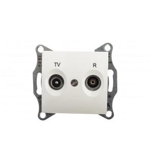 Sedna Gniazdo antenowe RD/TV przelotowe 8dB kremowe SDN3301323