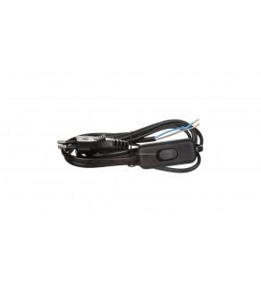 Przewód przyłączeniowy wyłącznikiem KF-HK-1 H03VVH2-F 2x0,75 2m czarny S09272