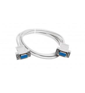 Kabel połączeniowy RS232 null-modem Typ DSUB9/DSUB9, Ż/Ż beżowy 1,8m AK-610100-018-E
