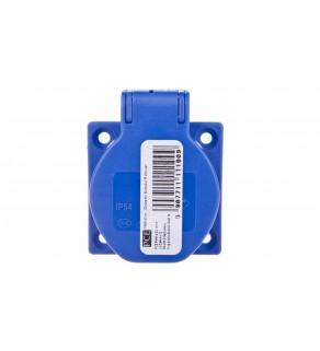 Gniazdo tablicowe 10/16A 2P+Z 230V schuko niebieskie IP44 1050-0bs