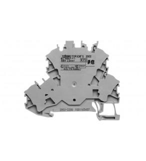 Złączka szynowa 2-pietrowa 2,5mm2 L szara 2002-2208 TOPJOBS
