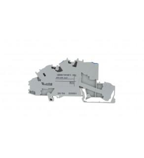 Złączka szynowa 3-pietrowa 4mm2 N/L/PE szara TOPJOBS 2003-7646