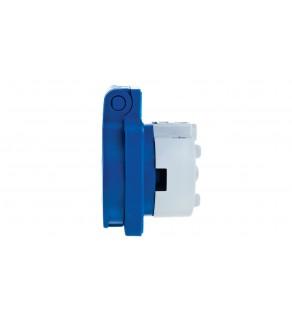 Gniazdo tablicowe 10/16A 2P+Z SCHUKO 230V niebieskie IP54 105-0b