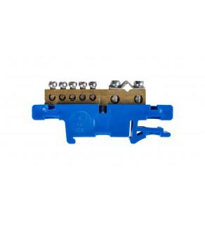 Listwa zaciskowa na szynę 7-torowa niebieska TH35 N LZ-7/N 0920-00