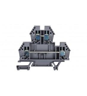 Złączka szynowa 2-piętrowa 4mm2 szara EURO 43550