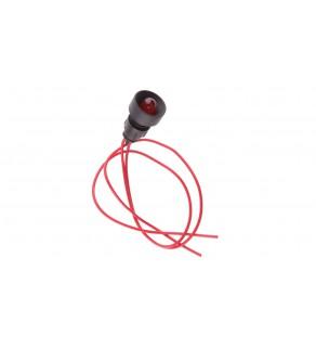 Lampka sygnalizacyjna 10mm czerwona 230V AC KLP 10R/230V 84510001