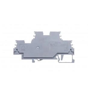 Złączka szynowa 2-piętrowa 1,5mm2 szara 279-501