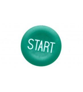 Wkładka przycisku 22mm płaska zielona z symbolem START ZBA333