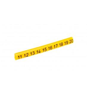 Oznacznik przewodów OZ-0/11-20 żółty E04ZP-01020101200 /100szt.