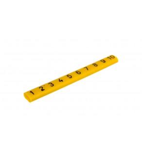 Oznacznik przewodów OZ-0/1-10 żółty E04ZP-01020101100 /100szt.