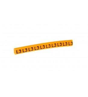 Oznacznik przewodów OZ-0/L3 żółty E04ZP-01020106100 /100szt.