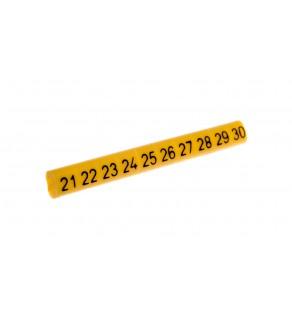 Oznacznik przewodów OZ-0/21-30 żółty E04ZP-01020101300 /100szt.