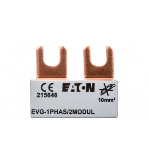 Szyna łączeniowa 1P 63A 10mm2 widełkowa (2 mod.) EVG-1PHAS/2MODUL 215646