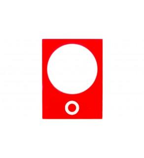 Tabliczka opisowa czerwona prostokątna 30x40mm WY ZB2BY2931