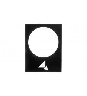 Tabliczka opisowa czarna prostokątna 30x40mm DO TYLU WOLNO-SZYBKO ZB2BY2918