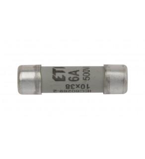 Wkładka bezpiecznikowa cylindryczna 10x38mm 6A gG 500V CH10 002620005
