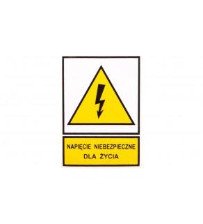 Tabliczka /znak ostrzegawczy/ TZO 52X74S N.N.D.Z. E04TZ-01011110200