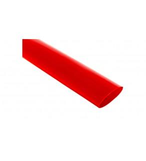 Rura termokurczliwa cienkościenna CR 25,4/12.7 - 1 cal czerwona /1m/ 8-7140