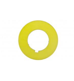 Tabliczka opisowa żółta okrągła fi42 bez nadruku ST22-4509P01