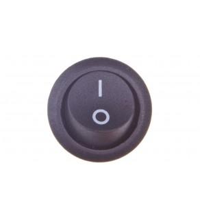 Wyłącznik okrągły kołyskowy R13 czarny 07-00-02-09-0003