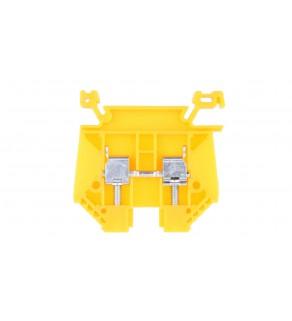 Złączka szynowa 2-przewodowa 6mm2 żółta EURO 6/35 43401N