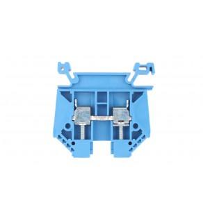 Złączka szynowa 2-przewodowa 6mm2 niebieska EURO 6/35 43401BL