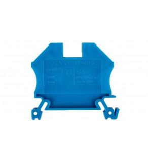 Złączka szynowa 2-przewodowa 6mm2 niebieska EURO 43407BL