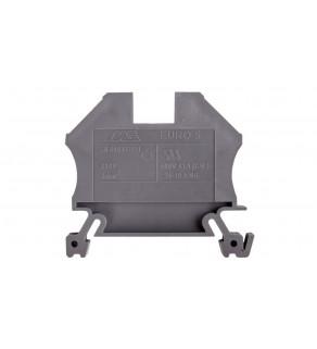 Złączka szynowa 2-przewodowa 6mm2 szara EURO 43407