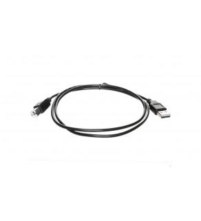 Kabel połączeniowy USB 2.0 Typ USB A/USB B, M/M czarny 1m AK-300102-010-S