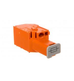 Złączka bezpiecznikowa do transformatorów oznaczniki WTB 4mm2 szara 6,35x32mm 711-404