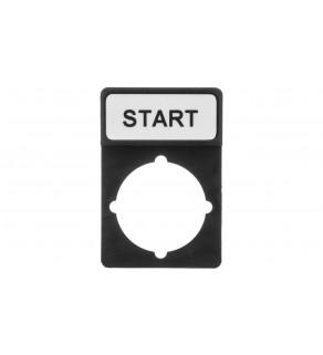 Tabliczka opisowa czarna prostokątna START ST22-1901P04