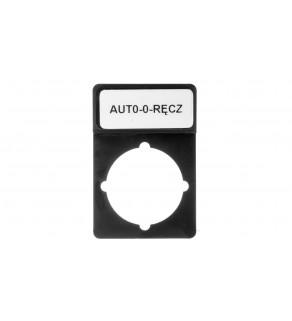 Tabliczka opisowa czarna prostokątna ST22-1901P26