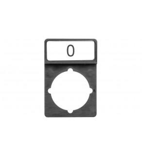 Tabliczka opisowa czarna prostokątna bez nadruku ST22-1901 P01