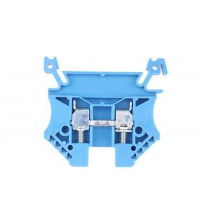 Złączka szynowa 2-przewodowa 4mm2 niebieska EURO 43409BL