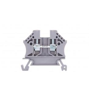 Złączka szynowa 2-przewodowa 2,5mm2 szara EURO 43408