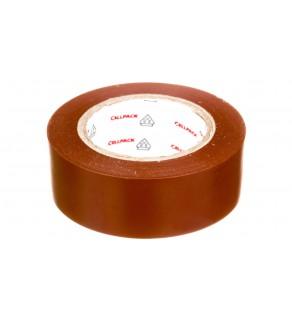 Taśma izolacyjna 128 0.15-19-10 PVC brązowa 145817