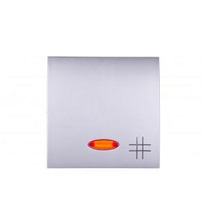 Simon Classic Klawisz pojedynczy łącznika krzyżowego z podświetleniem aluminium metalizowane MKW7L/26