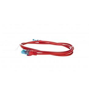 Kabel krosowy (Patch Cord) U/UTP kat.5e czerwony 1m DK-1512-010/R