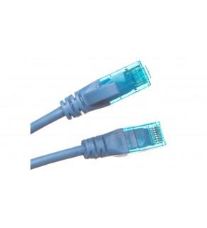 Kabel krosowy (Patch Cord) U/UTP kat.5e niebieski 1m DK-1512-010/B