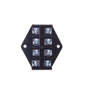 Płytka odgałęźna ZPT/2,5mm2/4-tory czarna ZPT 4-2.5 83001007