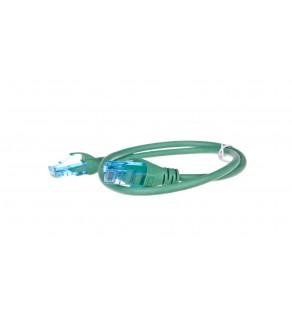 Kabel krosowy (Patch Cord) U/UTP kat.5e zielony 0,5m DK-1512-005/G